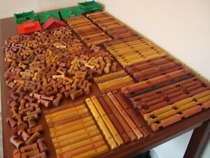 """Lincoln Logs HUGE Lot 334 Pieces """"My Best of the Worst Collection"""""""