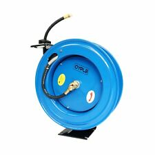 "NEW! 50ft 15m Spring Retractable 3/8"" Air Line Compressor Hose Reel"