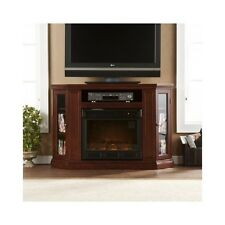 "Corner Electric Fireplace Heater 52"" Flat Screen TV Stand Media Console Cabinet"
