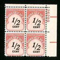 US Stamps # J88 F-VF PB of 4 OG NH Catalog Value $120.00