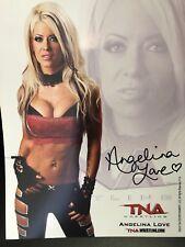 Angelina Love Autographed 8x10 TNA Impact Wrestling