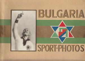 BULGARIA SPORT PHOTOS Album w/ 271 cigarette cards (1 card missing)