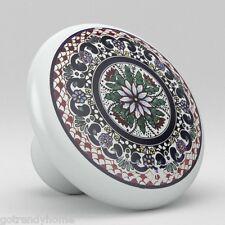 Round Talavera Design Ceramic Knobs Pulls Kitchen Drawer Cabinet Dresser 1195
