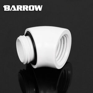 """Barrow G1/4"""" White Male to Female 45 Degree Fitting Adapter - 303"""