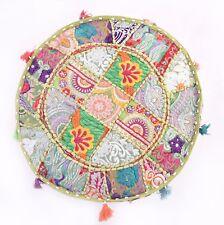 Bohemian 2 Patchwork Pouf Ottoman Indian Vintage Pouffe Moroccan Chair Bean Bag