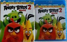 The Angry Birds 2 Movie ( Blu-ray+DVD+Slipcover) Like New