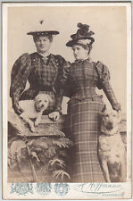 H. HOFFMANN, Regensburg: the sisters, nobility with Dog, 1895 KAB