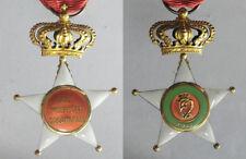 REGNO D'ITALIA  Medaglia croce coronata al merito coloniale in oro scatola origi