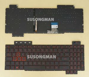 New UK Keyboard For ASUS TUF Gaming FX505DD FX505DT FX505DU FX505DY Red backlit