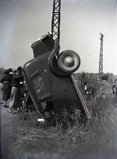 SAINTES MARIES DE LA MER c. 1935 - Accident Auto Négatif Verre - V9 370