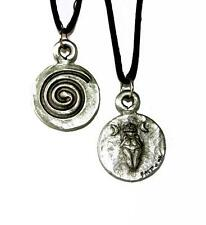 Goddess Moon Pendant w/cord - Pewter   Made in the USA!