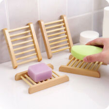 Natural Wood Soap Tray Holder Dish Storage Bath Shower Plate Home Bathroom Wash