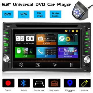 "6.2"" Double 2 Din Car Stereo CD DVD Player Radio Bluetooth FM GPS Backup Camera"