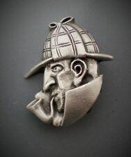 Pewter Sherlock Holmes Brooch, Pin Gift Idea