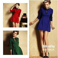 ROYAL BLUE COCKTAIL DRESS SIZE 12 AU WOMENS NEW