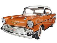 1957 CHEVROLET BEL AIR HARDTOP BRONZE 1:18 MODEL CAR BY ROAD SIGNATURE 92109