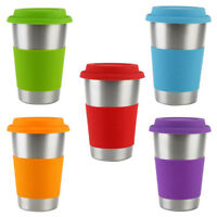 BE_ Am_ KF_ 500ml Stainless Steel Cup Beer Mug Heat Insulated Water Drinking Tea