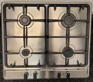USED BELLING 60CM STAINLESS STEEL GAS HOB + FREE 3 MONTHS GUARANTEE
