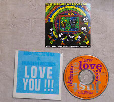 "CD AUDIO/ VARIOUS ""ABUS DANGEREUX & MUNSTER RECORDS LOVE YOU!!!"" CD COMPILATION"