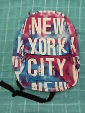 Robin Ruth NewYork City Backpack Book bag Travel Bag Tie-Dye Pink Blue New