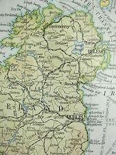 1919 LARGE MAP ~ BRITISH ISLES POLITICAL ~ POPULATION DENSITY ENGLAND IRELAND