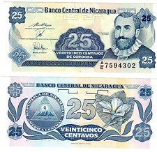 NICARAGUA Billet 25 Centavos 1991 P170 DE CORDOBA NEUF UNC