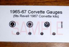 1967 CORVETTE GAUGE FACES for 1/25 scale REVELL COUPE AND CONVERTIBLE KITS