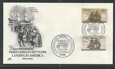 # 2040 300TH ANNIVERSARY OF GERMAN IMMIGRATION 1983 ArtCraft First Day Cover