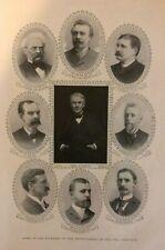 1905 Electric Railway  Thomas Edison Judge Benjamin Franklin illustrated