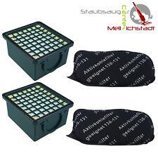 2 Hepa Filter + 2 Motorschutzfilter geeignet für Vorwerk Kobold VK 130 131