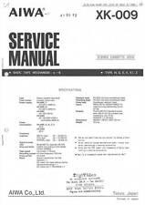 AIWA EXCELIA XK-009 XK 009 - CASSETTE DECK - SERVICE MANUAL - REPAIR - DBX -