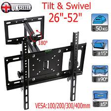 Full Motion Wall Mount Swivel Tilt Bracket LED LCD TV 26 30 42 52 60 Flat Screen