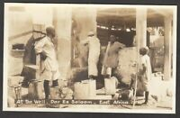 Postcard Dar Es Salaam in Tanzania East Africa water filling At The Well RP