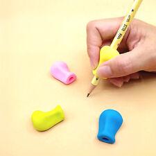 3PCS Pencil Pen Handwriting Aid Grip Right Left Handed Soft Set Silica Gel Tools