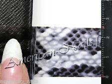 Rouleau Foils Nail Art Foil ongle peau de Serpent Noir transparent 150 cm