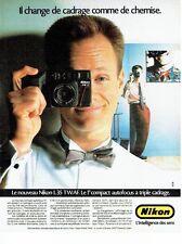 PUBLICITE ADVERTISING 0217  1986  Nikon appareil photo L 35 TWAF autofocus