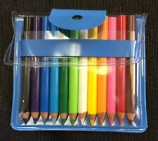 Be-Goody 12 Japanese Miniature Colored Pencils in Pouch-BLUE-ONE POUCH SET.