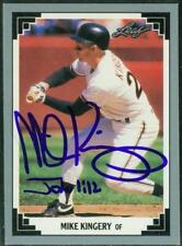 Original Autograph of Mike Kingery of the Kansas City Royals on a 1991 Leaf