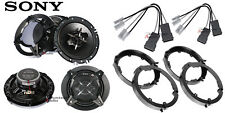 2 Pair Sony Xsfb1630 6.5 Speakers + Front / Rear Speaker Adapters + Harness