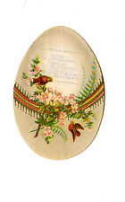 Victorian Trade Card EGG Die-cut LIVINGSTON Books Stationery Rochester NY
