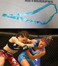 Carla Esparza Signed UFC 185 Fight Worn Used Hair Blue Ribbon PSA/DNA v Joanna J