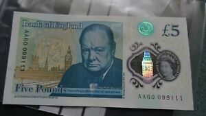 £5 Note AA60