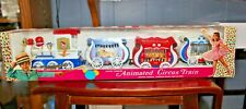 DURHAM INDUSTRIES ANIMATED CIRCUS TRAIN NEW IN BOX MOVING ANIMALS WORKING DOORS