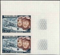 FRANCE #1181 Airplane. Aviators. Imperf. Pair! Mint! NH! Very Fine!