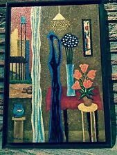 Yohanan Simon Oil on Masonite Israeli Painting Judaica Art Kibbutz Israelianna