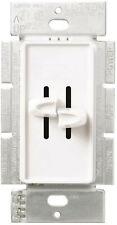 Lutron Skylark S2-L-WH White Dual SinglePole Wall Slide Dimmer Light Switch 300w