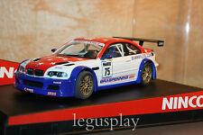 "SCX Scalextric Slot Ninco 50307 BMW M3 GTR ""Euro GT"" Hans Ambaum Nº75"