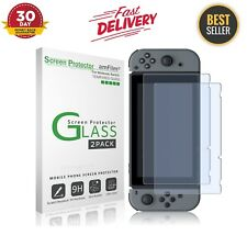 Screen Protector For Nintendo Switch 2017 Gaming Case Console Tempered Glass 2Pc