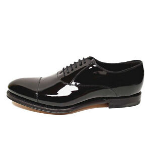 GUCCI SHOES MENS DRURY BLACK PATENT LEATHER OXFORD LOAFERS $940 sz 8 US 8.5