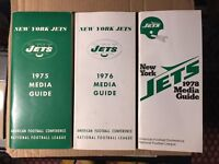 1975 1976 1978 New York Jets NFL Football Media Guides Lot of 3 Guides